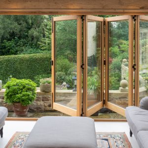 External Solid Oak Bifolds